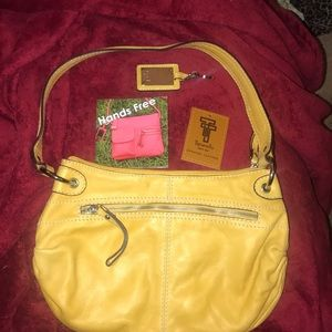 Tignanello Leather Handbag Sunflower Yellow  🌻